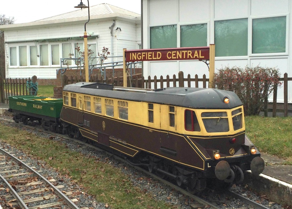 GWR railcar at Infield Central during the railway's 2015 Diesel Day. Picture by Craig Gluyas.