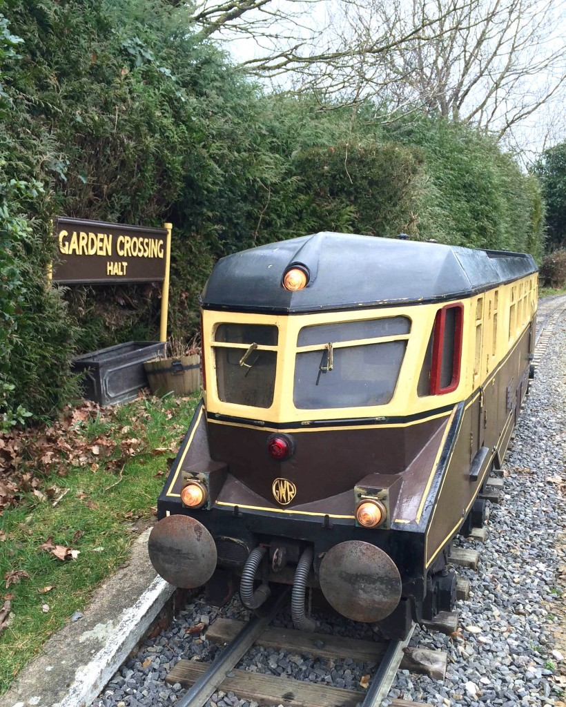 GWR Railcar W22 that was at the late Bob Symes's Greendene (Works) Railway and now stationed at Ingfield Light Railway. Picture by Craig Gluyas.