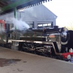 Britannia Class No 70055 'Rob Roy' resting at Eastleigh Parkway Station, Spring Steam Gala.