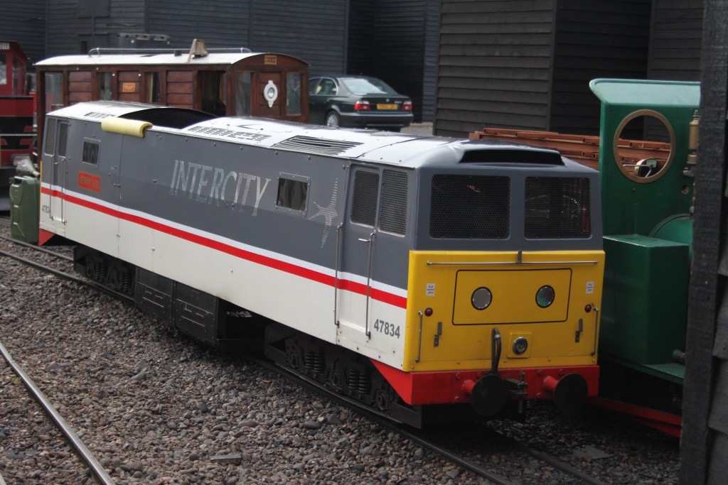 'Jerry Lee' on the Hastings Miniatuyre Railway. You can just see the spectacle plate of 'Edmund Hannay' on the right. Picture by Jonathan James.