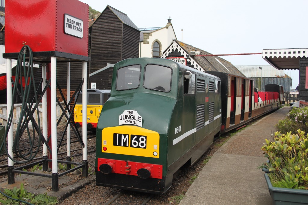 Ex-Knebwort Miniature Railway 'Vanguard' at work on the Hastings Miniature Railway. Picture by Jonathan James.