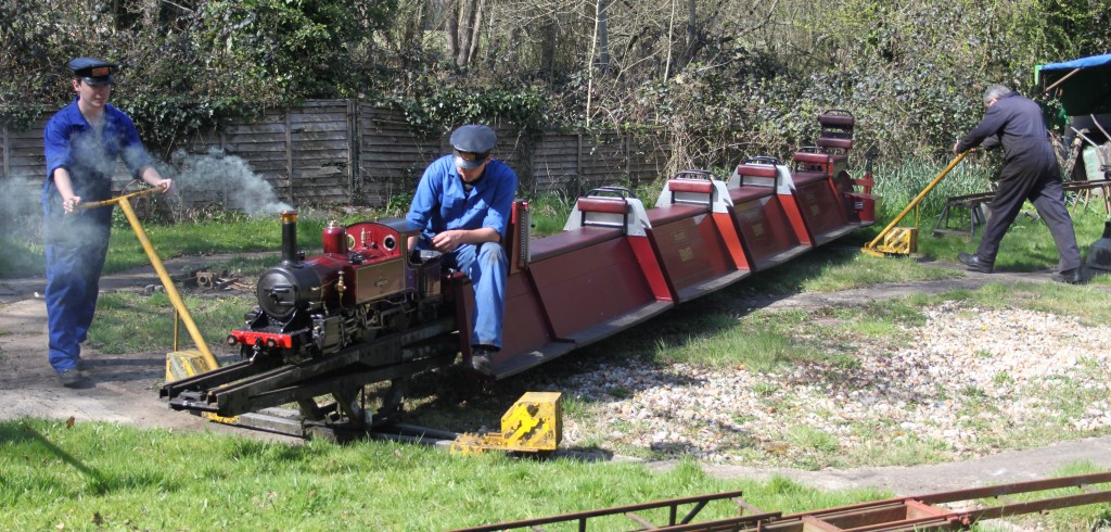 At the Bankside Miniature railway the whole train, locomotive and carriages, are turned on a large turntable at the end of each journey. Picture by Jonathan James.