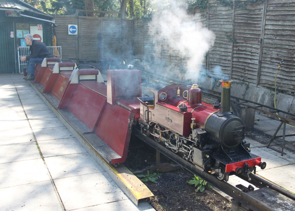 The railway is operated by No.15  'Carolyn' 2-6-2 built in 1924. Picture by Jonathan James.