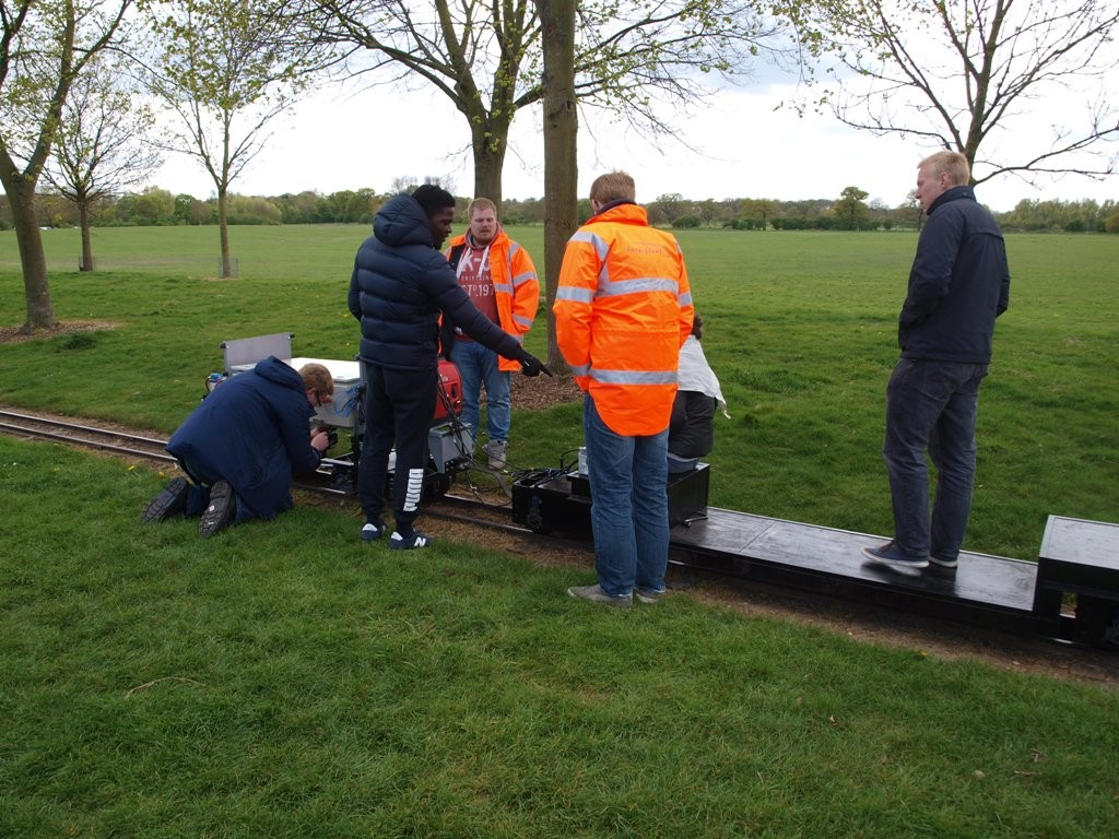 The Interfleet team from Sheffield at Ferry Meadows Railway before the 2015 IMechE Challenge. Picture by Dave Coging.