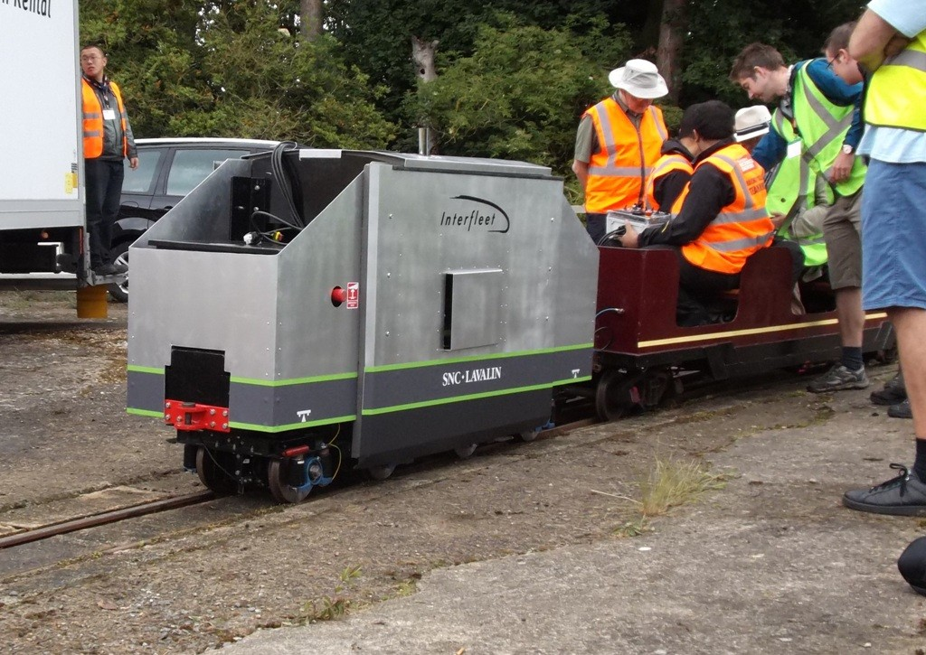 Interfleet's 2014 loco on test at Ferry Meadows. Picture by Dave Coging.