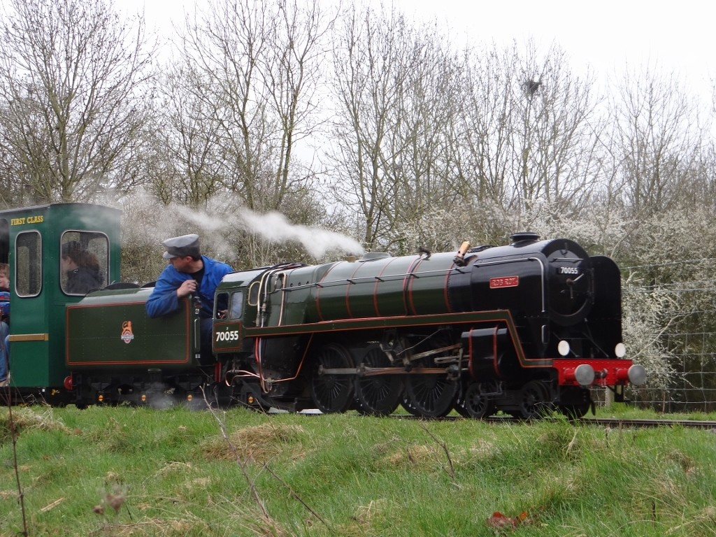 Britannia class pacific No 70055 'Rob Roy' at the head of the Lakeside Express Spring Steam Gala 2015. Picture by Lionel Kay.