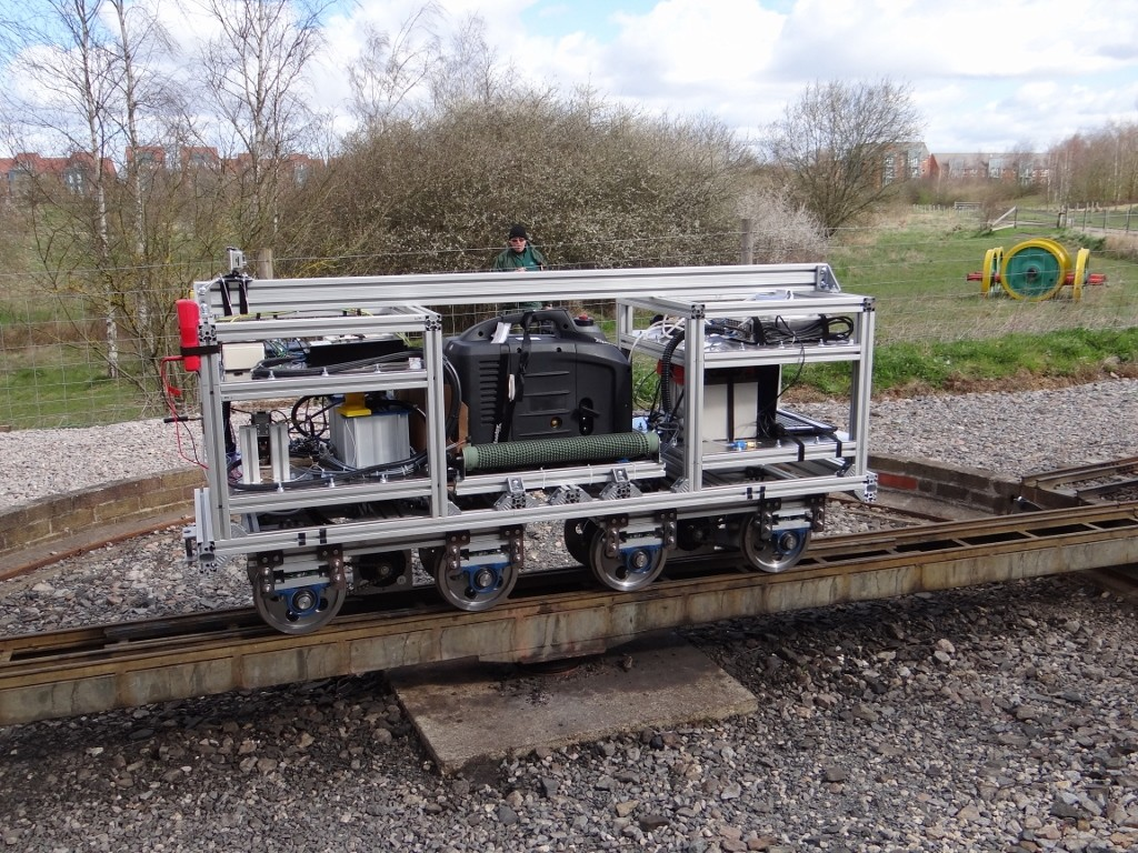 University of Southampton Faculty of Engineering students' project petrol electric locomotive. Picture by Lionel Kay.