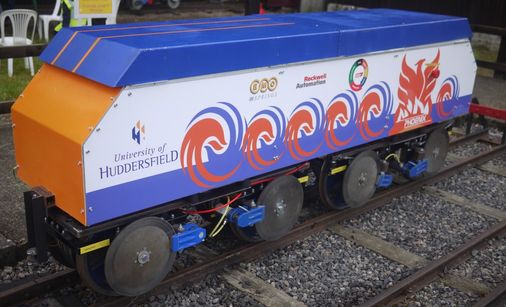 University of Huddersfield entry at 2015 IMechE Railway Challenge. Picture by Rick Osman.