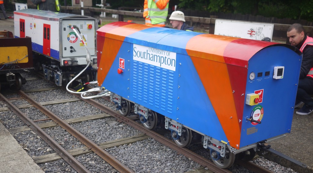 University of Southampton entry at 2015 IMechE Railway Challenge. Picture by Rick Osman.