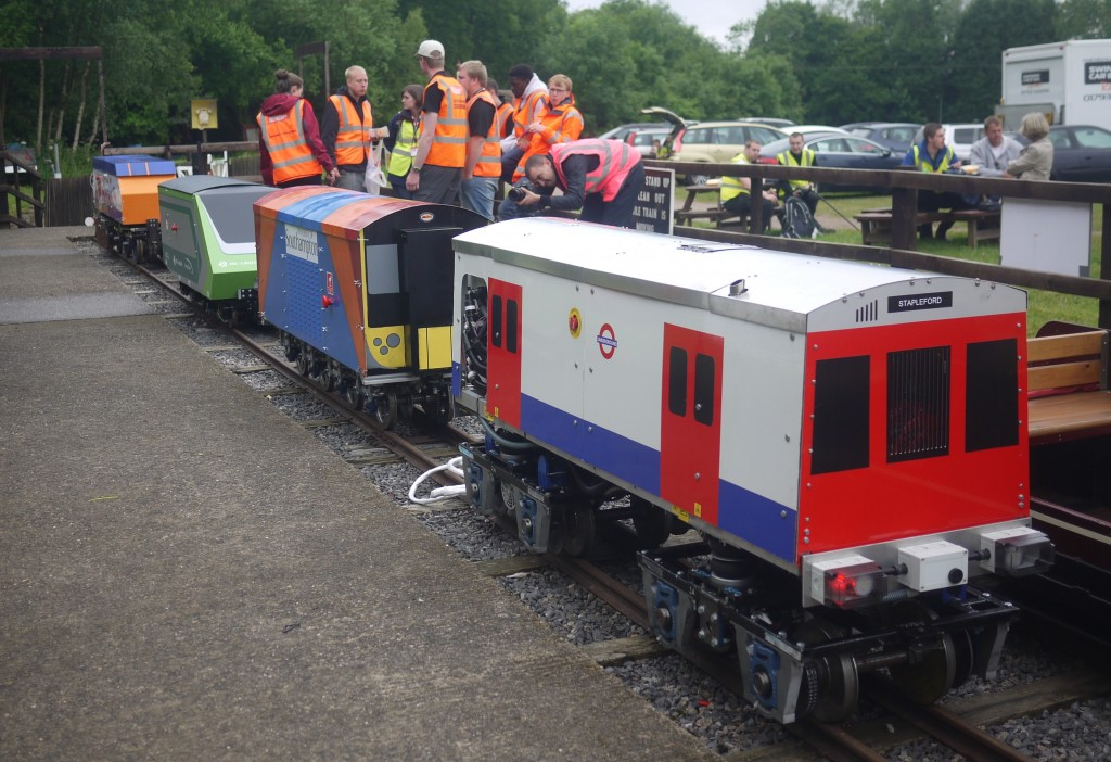 Entries at 2015 IMechE Railway Challenge with the eventual winner from TfL in the foreground. Picture by Rick Osman.