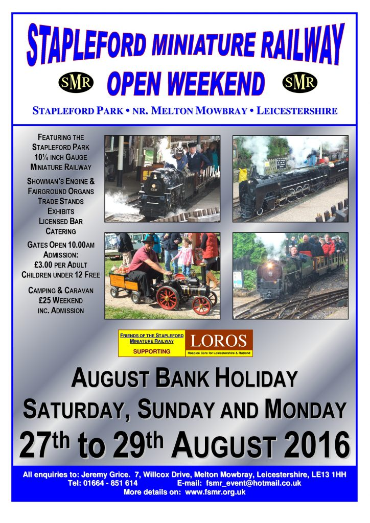 Stapleford Open Weekend  2016