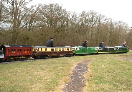 Line up of LMS and GWR locos at Ingfield Diesel Day. Picture by Trevor Hurdle.