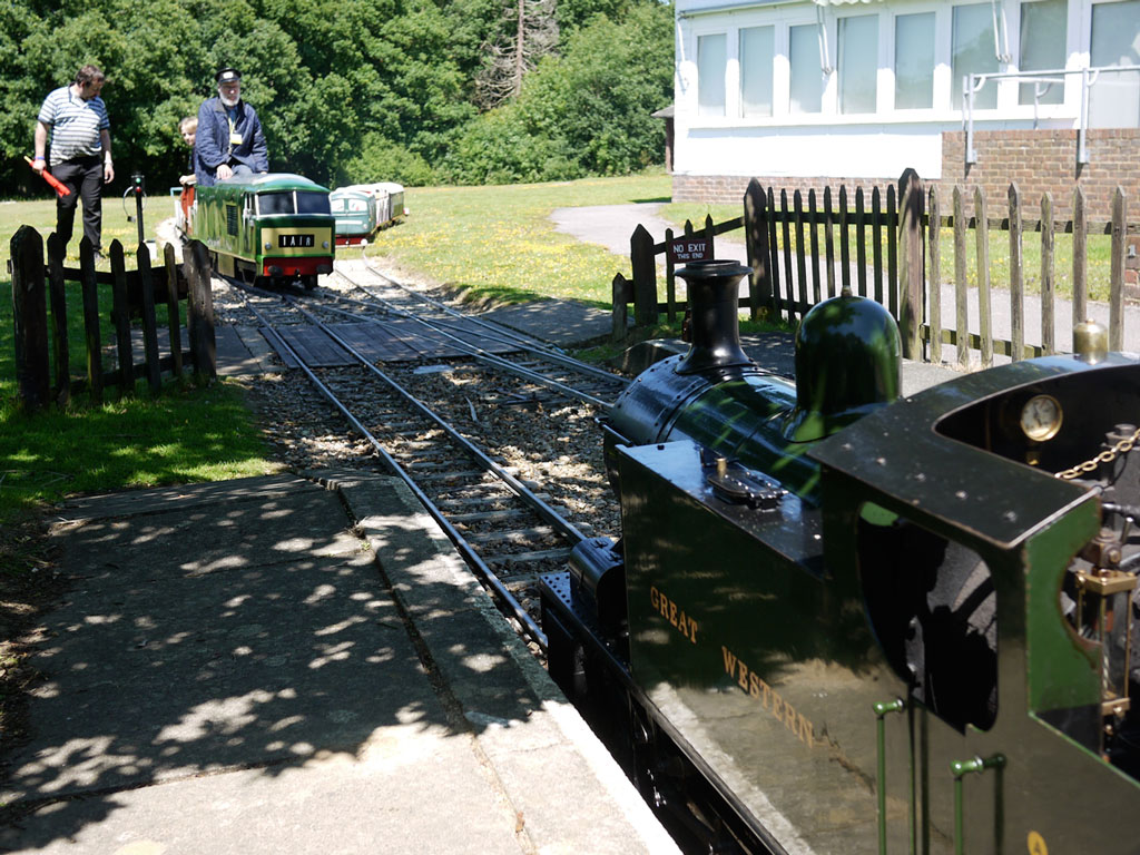 Train movements at Ingfield Manor Railway